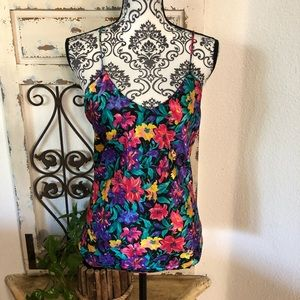 Floral print colorful camisoles